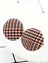 Women's Stud Earrings Earrings Ladies Vintage Elegant Jewelry Dark Coffee / Black / White / Light Coffee For Daily Office & Career