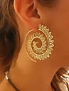 Dames Druppel oorbellen / Ring oorbellen - Golf, Twist Circle Vintage, Europees, Etnisch Goud / Zilver Voor Avond Feest / Carnaval