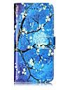 Capinha Para Apple iPhone X iPhone 8 Carteira Porta-Cartao Com Suporte Corpo Inteiro Flor Rigida Couro Ecologico para iPhone X iPhone 8