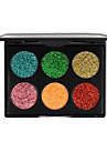6 väri glitter luomiväri meikki kulta sipuli jauhe paljettua luomiväri kosmetiikkaa