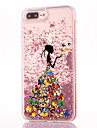 Case For Apple iPhone 7 Plus Flowing Liquid Pattern Back Cover Sexy Lady Glitter Shine Hard PC for iPhone 7 Plus iPhone 7 iPhone 6s Plus