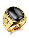 Heren Hars meetkundig Statement Ring manchet Ring Zegelring Statement Modieus Modieuze ringen Sieraden Zwart / Rood / Groen Voor Dagelijks Verstelbaar