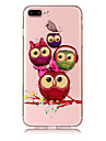 Case For Apple iPhone X iPhone 8 Plus Transparent Pattern Back Cover Owl Soft TPU for iPhone X iPhone 8 Plus iPhone 8 iPhone 7 Plus