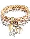 Muškarci Žene Narukvice s privjeskom - Imitacija dijamanta Srce, Pahulja Klasik, Moda Narukvice Jewelry Zlato Za Dnevno