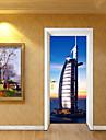 Adesivi per porte - Adesivi 3D da parete Paesaggi / Architettura Salotto / Camera da letto / Bagno