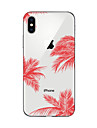 Capinha Para Apple iPhone X / iPhone 8 Plus / iPhone 7 Estampada Capa traseira Cenario Macia TPU para iPhone X / iPhone 8 Plus / iPhone 8