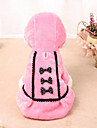 Cat Dog Dress Dog Clothes Bowknot Black Pink Polar Fleece Costume For Spring &  Fall Winter Dresses&Skirts Casual / Daily