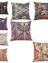 8.0 pcs Linho Cobertura de Almofada,Floral Geometrica Art Deco