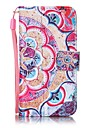 Case For iTouch 5/6 Card Holder Pattern Auto Sleep/Wake Up Full Body Cases Hard