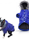 Dog Coat Hoodie Pajamas Puffer / Down Jacket Dog Clothes Casual/Daily Solid Gray Purple Blue Pink Costume For Pets