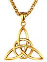 Herre Geometrisk Halskædevedhæng - Rustfrit Stål Etnisk Guld, Sølv Halskæder Smykker 1 Til Gave, Daglig