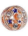 Bijoux bricolage 1 pcs Perles Alliage Or Rose Balle Perle 0.43 cm DIY Colliers Tendance Bracelet