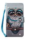 Coque Pour Samsung Galaxy S7 edge S7 Porte Carte Portefeuille Strass Avec Support Motif Coque Integrale Chouette Dur faux cuir pour S7
