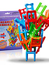 Building Blocks Stacking Games Toys Balance Chair Plastic Classic 18 Pieces Kids Boys\' Girls\' Christmas Birthday Children\'s Day Gift
