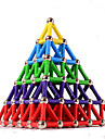 84 pcs 5mm Magnetiske leker บล็อกแม่เหล็ก Magnetic Sticks แผ่นแม่เหล็ก พลาสติก แม่เหล็ก Magnetic Pyramid สำหรับเด็ก / ผู้ใหญ่ ทุกเพศ เด็กผู้ชาย เด็กผู้หญิง Toy ของขวัญ / Building Blocks