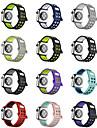 Pulseiras de Relogio para Apple Watch Series 3 / 2 / 1 Apple Fecho Moderno Silicone Tira de Pulso