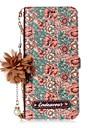 Кейс для Назначение SSamsung Galaxy S8 Plus S8 Бумажник для карт со стендом Флип С узором Своими руками Чехол Цветы Твердый Кожа PU для