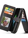 taske til iphone xr xs xs max tegnebog / kortholder / flip cases solid farve hårdt ægte læder til iphone x 8 8 plus 7 7plus 6s 6s plus se 5 5s