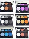 6pcs Le fard a paupieres Mignon / Impermeable / Palette Melange / Sec / Normal Fards a Paupieres Poudre Epais Maquillage Quotidien /