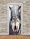 Animais Adesivos de Parede Autocolantes 3D para Parede Etiquetas de parede de animal Autocolantes de Parede Decorativos Porta Adesivos,