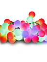 String Lights 100 LEDs Warm White White Multi Color Pink Yellow Blue Red Dimmable 220V 110-130V