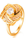 Women\'s Cubic Zirconia Band Ring - Gold Plated Fashion 7 / 8 / 9 Gold For Wedding / Gift