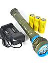 LED-Ficklampor Ficklampor LED LED utsläpps 10000 lm 7 Belysning läge Vattentät Professionell Anti-Stöt Camping / Vandring / Grottkrypning Dykning / Sjöliv Jakt Forest Grön