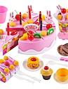 مجموعات لعبة مطبخ لعب تمثيلي عطلة العائلة كعكة رائع التفاعل بين الوالدين والطفل للأطفال للصبيان للفتيات ألعاب هدية 75 pcs