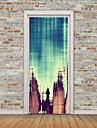 Abstrait Paysage Stickers muraux Autocollants muraux 3D Tableaux Noirs Muraux Autocollants Autocollants muraux decoratifs Autocollants de