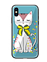 Case For Apple iPhone X iPhone 8 Pattern Back Cover Cat Hard Tempered Glass for iPhone X iPhone 8 Plus iPhone 8 iPhone 7 iPhone 6s Plus