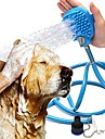 Facil de Instalar flexible ajustable Ropa para perros Limpieza Un Color Azul Perros Gatos Conejos Animales Pequenos de Pelo Mascotas