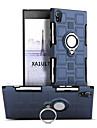 Кейс для Назначение Sony Xperia XA1 Ultra Защита от удара Кольца-держатели Поворот на 360° Кейс на заднюю панель Сплошной цвет Твердый ПК