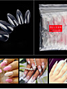 1 set Artificial Nail Tips Nail Art Kit For Finger Nail Best Quality nail art Manicure Pedicure Stylish / Transparent Daily
