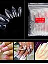 1set Konstgjorda nageltips Nail Art Kit Till Fingernageö Bästa kvalitet nagel konst manikyr Pedikyr Stilig / Transparent Dagligen