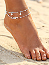 Layered Anklet - Pearl Infinity Double Layered, Bohemian, Fashion Gold / Silver For Evening Party / Beach / Bikini / Women\'s