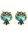Women\'s Synthetic Aquamarine Stud Earrings Gemstone Earrings Cat Animal Ladies Jewelry Blue For Daily Going out