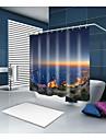 Rideaux de douche et anneaux Moderne Mediterraneen Polyester Moderne Nouveaute Fabrication a la machine Impermeable Salle de Bain