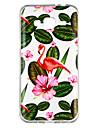 케이스 제품 Samsung Galaxy J3 (2016) 투명 / 패턴 뒷면 커버 식물 / 플라밍고 소프트 TPU 용 J3 (2016)