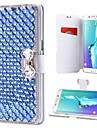 Case Kompatibilitás Samsung Galaxy S9 Plus / S9 Kártyatartó / Strassz / Állvánnyal Héjtok Egyszínű Kemény PU bőr mert S9 / S9 Plus / S8 Plus