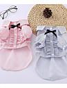 Hunde Katte T-shirts Hundetøj Stribet Sløjfeknude Blå Lys pink Bomuld / Polyester Kostume For kæledyr Dame Klassisk Mode