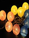 1.5m String Lights 10pcs LEDs Warm White Decorative AA Batteries Powered 1pc