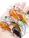 9 pcs Fishing Lures Minnow Hard Bait Hard Plastic Sea Fishing Bait Casting Spinning Jigging Fishing Freshwater Fishing Other Trolling &