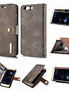 Case For Huawei P20 / P20 lite Wallet / Card Holder / Flip Full Body Cases Solid Colored Hard PU Leather for Huawei P20 / Huawei P20 Pro