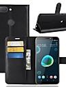 Case For HTC U11 / HTC Desire 12 Wallet / Card Holder / Flip Full Body Cases Solid Colored Hard PU Leather for HTC U11 plus / HTC U11
