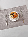 Contemporary / Classic PVC(PolyVinyl Chloride) Square Placemat Floral Table Decorations 1 pcs