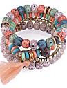 Tassel Strand Bracelet - Resin European, Ethnic, Fashion Bracelet Red / Blue / Pink For Daily