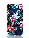 Capinha Para Apple iPhone X / iPhone 8 Estampada Capa traseira Flor Rigida PC para iPhone X / iPhone 8 Plus / iPhone 8