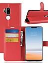 케이스 제품 LG K10 2018 / G7 지갑 / 카드 홀더 / 플립 전체 바디 케이스 솔리드 하드 PU 가죽 용 LG X venture / LG V30 / LG V20