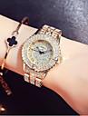 Γυναικεία Πολυτελή Ρολόγια Ρολόι Φορέματος Ρολόι Καρπού Ιαπωνικά Χαλαζίας Ανοξείδωτο Ατσάλι Ασημί / Χρυσό / Χρυσό Τριανταφυλλί 30 m Νεό Σχέδιο Καθημερινό Ρολόι απομίμηση διαμαντιών Αναλογικό