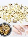 1 pcs Metallic Negle smykker Nail Art Forms